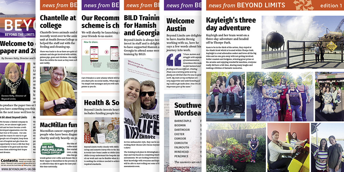 Previews of some pages from the first edition of our newspaper