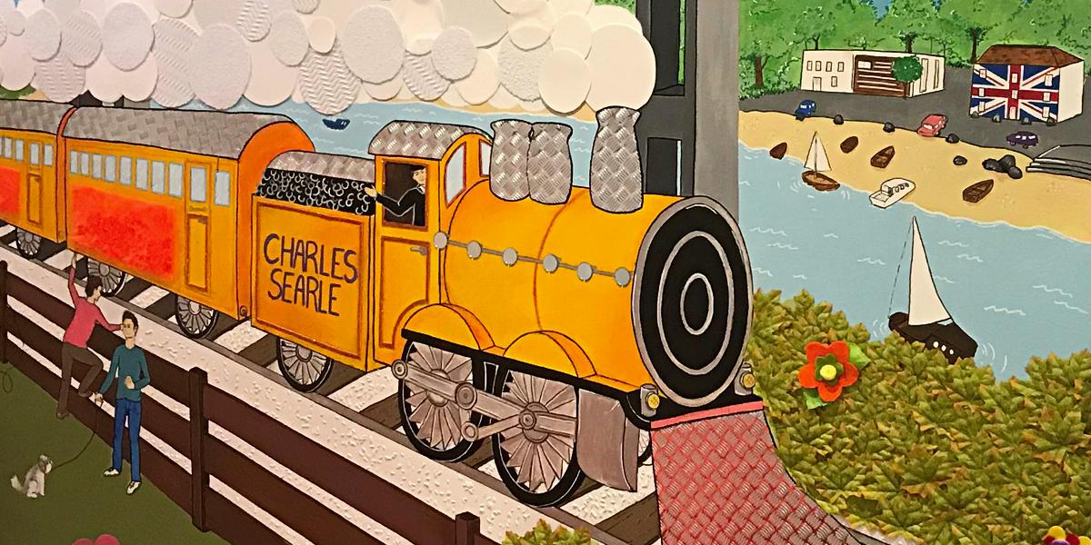 Detail of Charles' mural