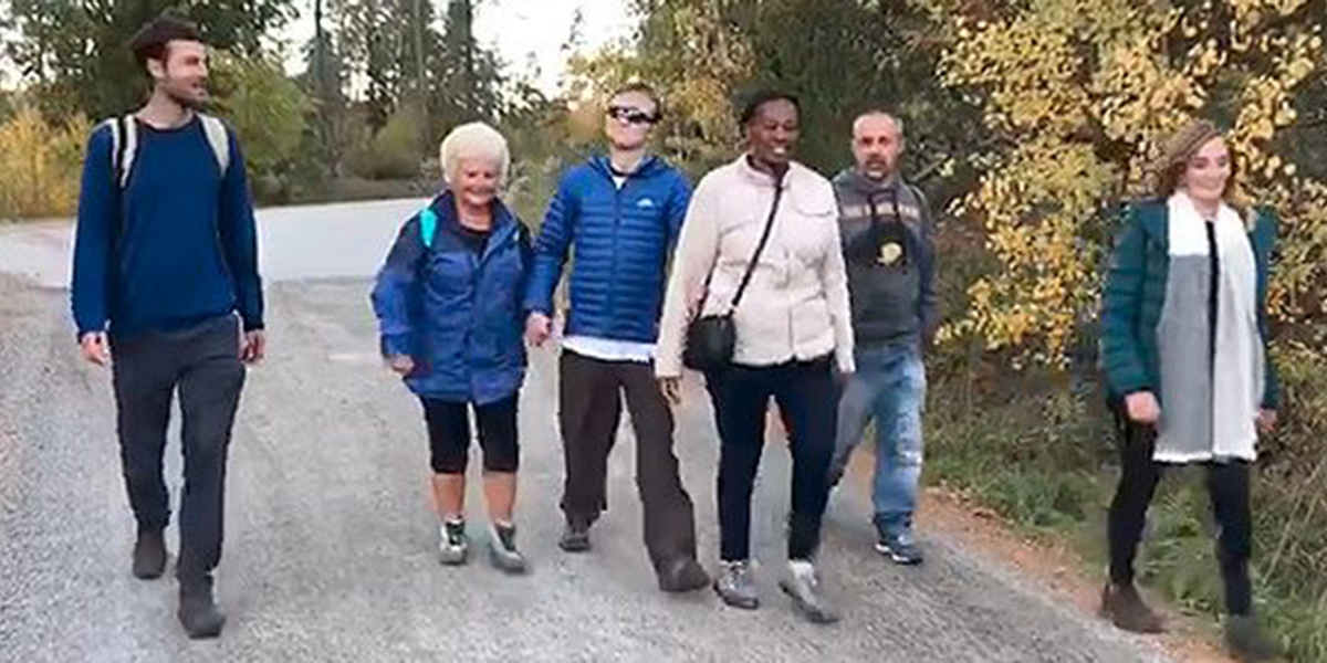 Ricky and his team walking the walk in Sweden