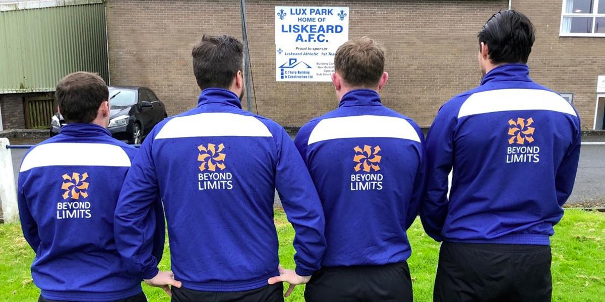 Photo of Liskeard United players wearing Beyond Limits shirts