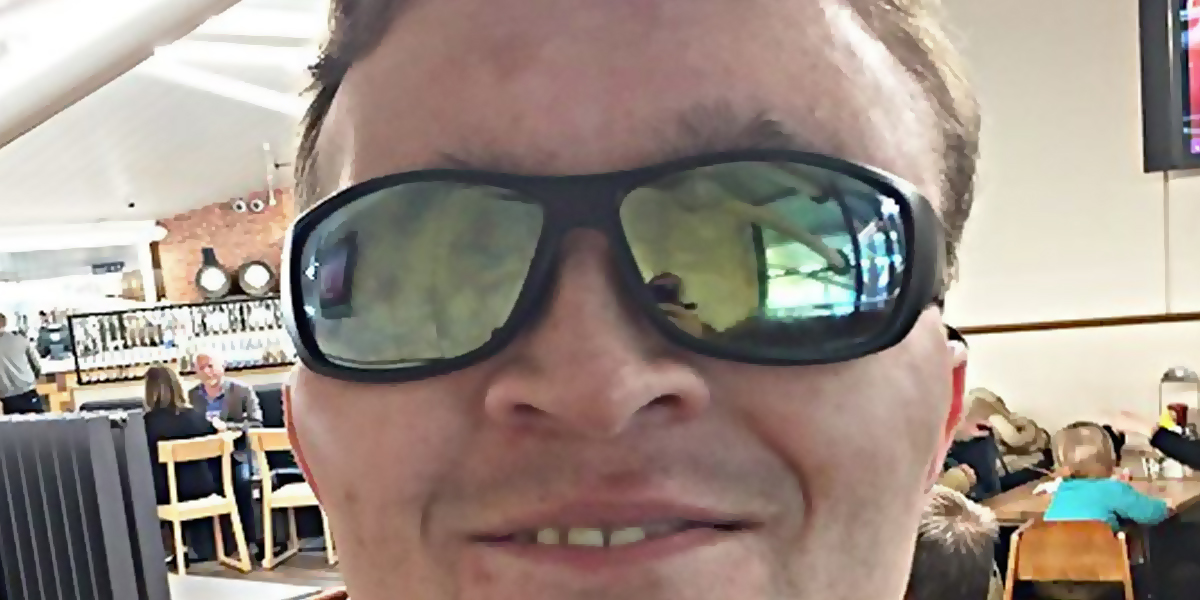 Photo of Ricky in his shades